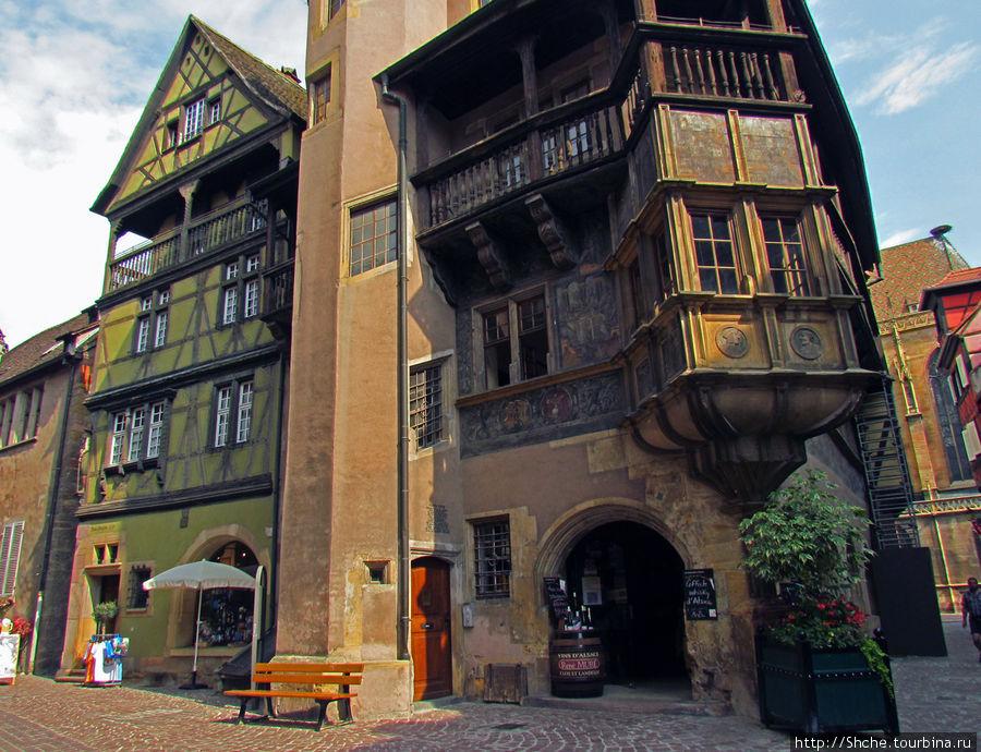 знаменитое здание — Maison Pfister (1537 г.) Кольмар, Франция