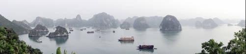 Бухта Халонг — вид со смотровой площадки острова Титова