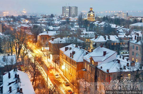 Первомайская улица зимой.