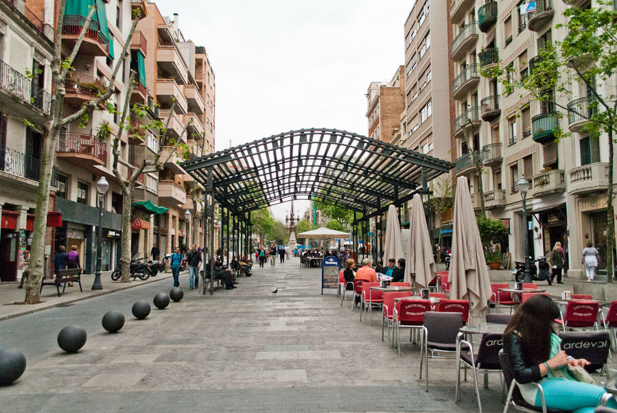 Ulicy Barselony Barselona Ispaniya