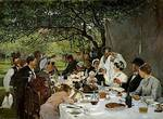 Albert Auguste Fourie (1854-1937) — The Wedding Meal at Yport